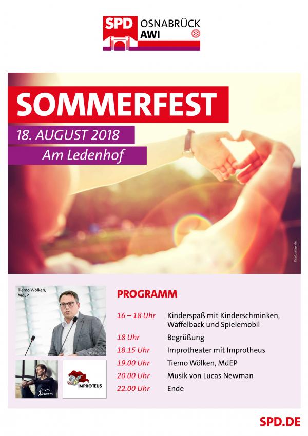 Plakat des Sommerfests
